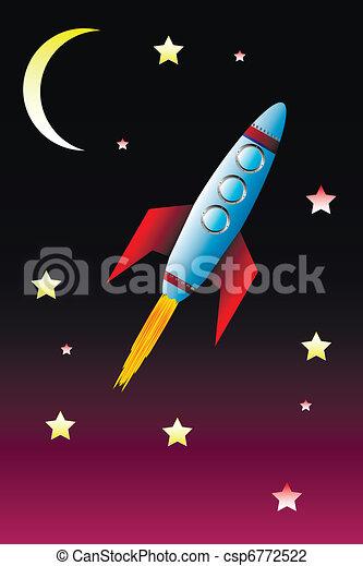 rakieta, przestrzeń - csp6772522