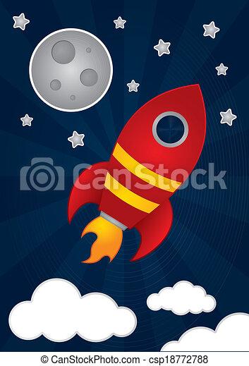 rakieta, przestrzeń - csp18772788