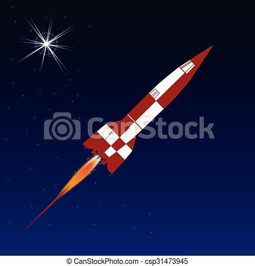 rakieta, przestrzeń - csp31473945