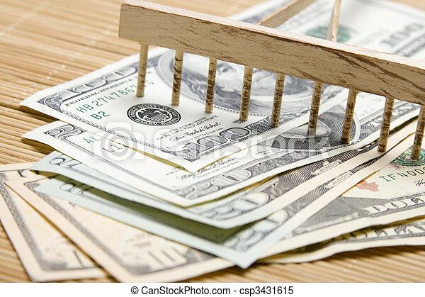 Raking In The Money - csp3431615