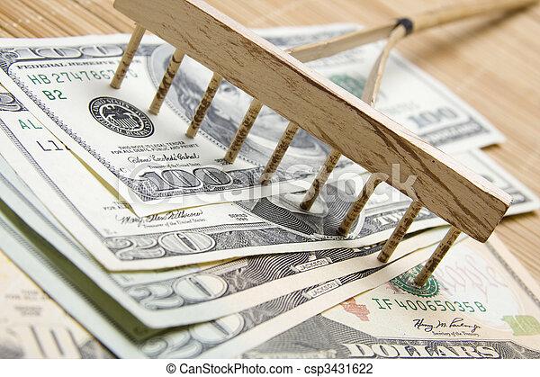 Raking In The Money - csp3431622
