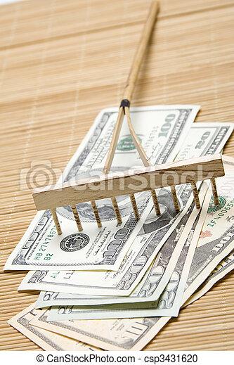 Raking In The Money - csp3431620