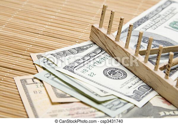 Raking In The Money - csp3431740