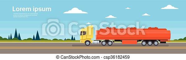 rakomány, autó, hajózás, felszabadítás teherkocsi, út - csp36182459