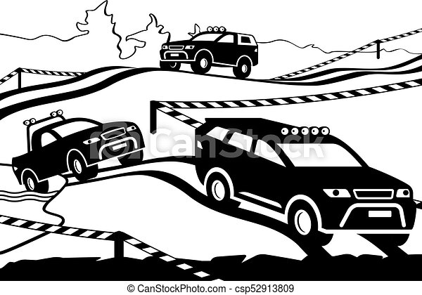 Rally with off-road vehicles - csp52913809