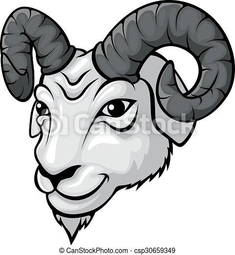 Ram head mascot - csp30659349