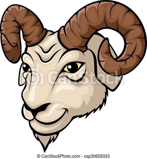 Ram head mascot illustration - csp30659333