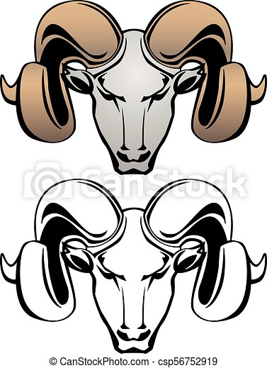 ram head vector graphic illustration rams head vector vector rh canstockphoto com ram clipart images ram clipart stencil