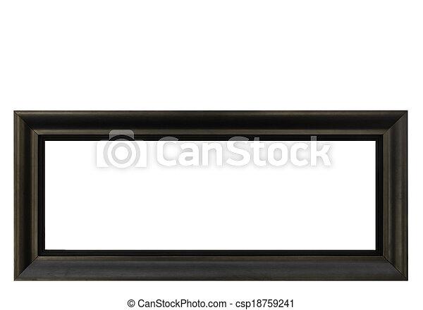 ram, isolerat, hög, bakgrund, vit, upplösning, tom - csp18759241