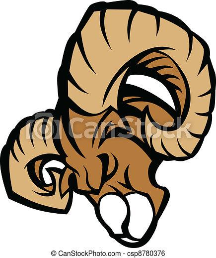 Ram Mascot Graphic Illustration - csp8780376