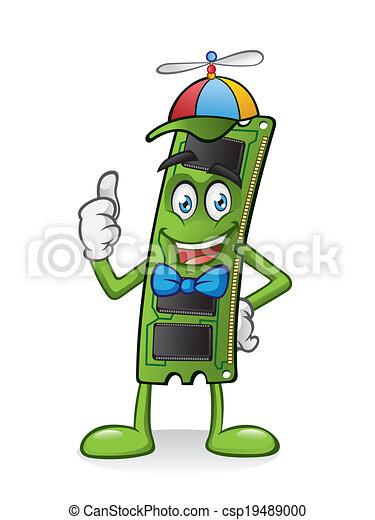 RAM Memory Card Cartoon - csp19489000