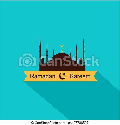 Ramadan kareem diseño plano - csp27786527