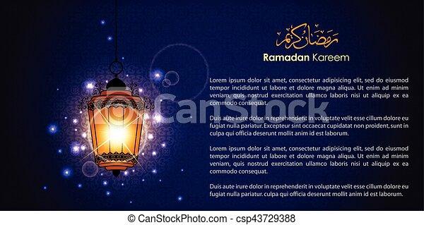 Ramadan greetings in arabic script an islamic greeting card ramadan greetings in arabic scrip csp43729388 m4hsunfo