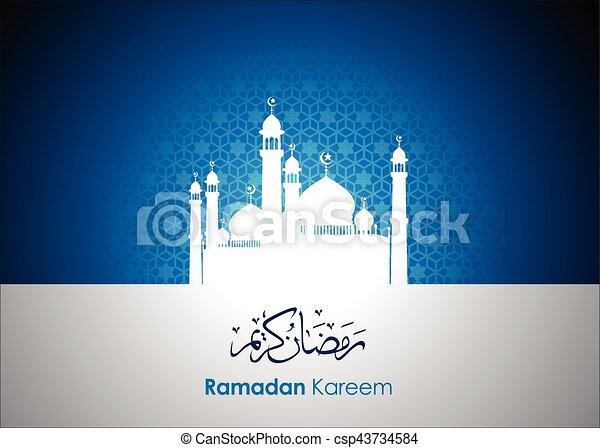 Ramadan greetings in arabic script an islamic greeting card for ramadan greetings in arabic script an islamic greeting card for holy month of ramadan kareem vector and illustration eps 10 m4hsunfo