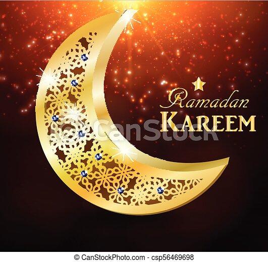 Ramadan greetings vector ramadan greetings with golden moon eps ramadan greetings vector m4hsunfo