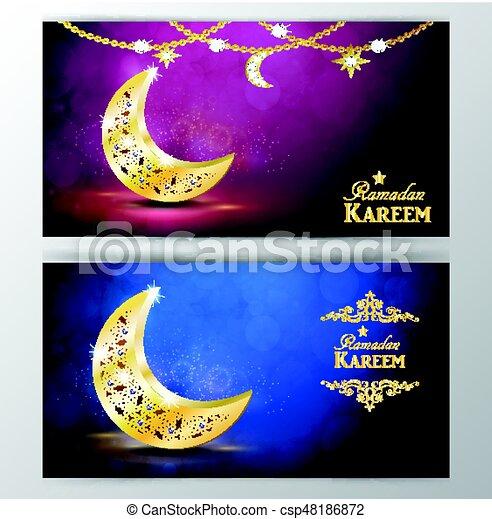 Ramadan greetings vector ramadan greetings with golden moon ramadan greetings vector m4hsunfo