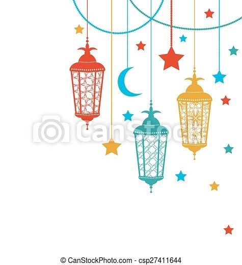 ramadan, hintergrund, kareem - csp27411644
