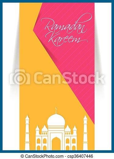 Ramadan Kareem Abstract - csp36407446