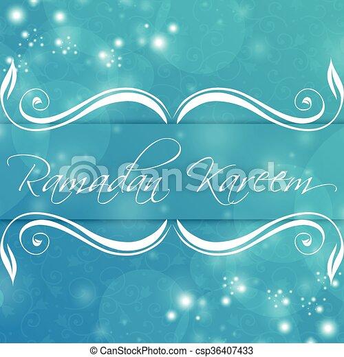 Ramadan Kareem Abstract - csp36407433