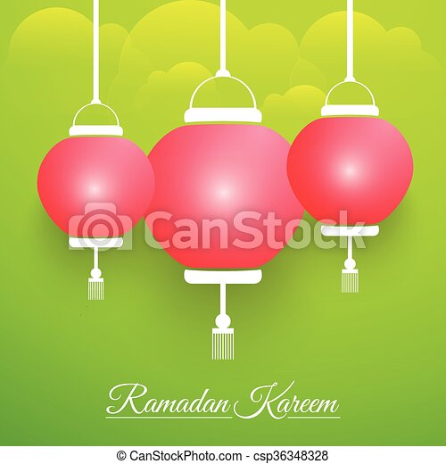 Ramadan Kareem Abstract - csp36348328