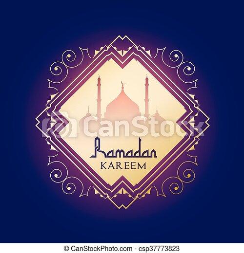 ramadan kareem background 0606 - csp37773823