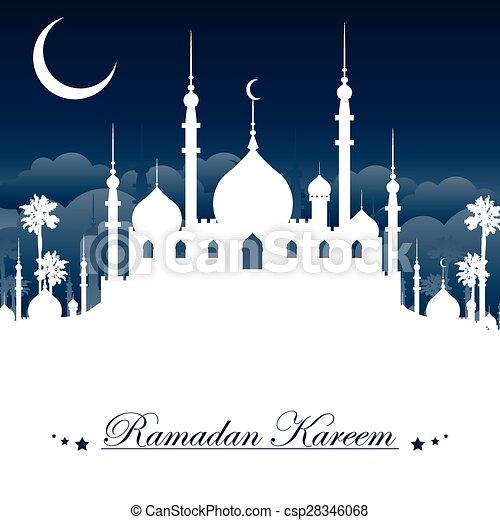 Ramadan Kareem background - csp28346068