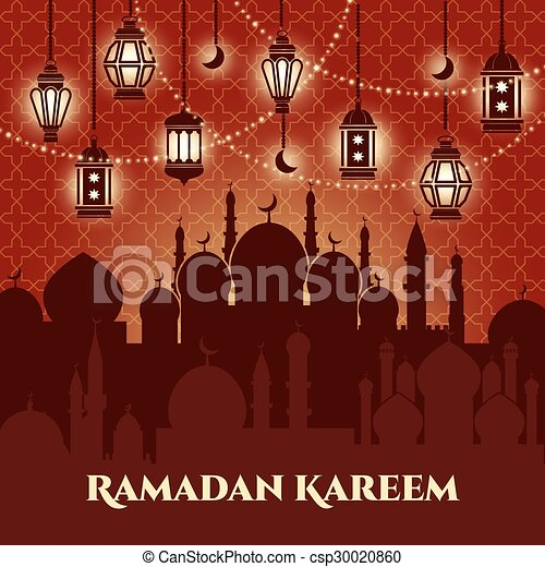 Ramadan Kareem Background - csp30020860