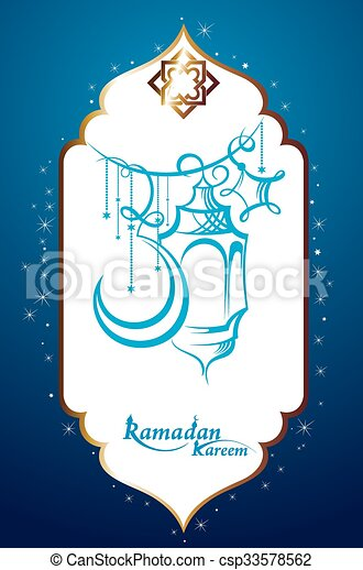 Ramadan Kareem Background - csp33578562