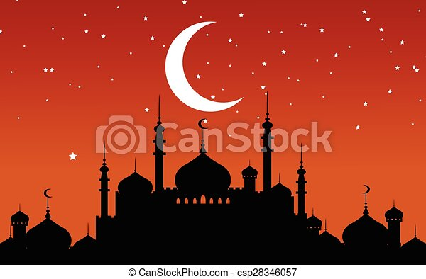 Ramadan Kareem background - csp28346057