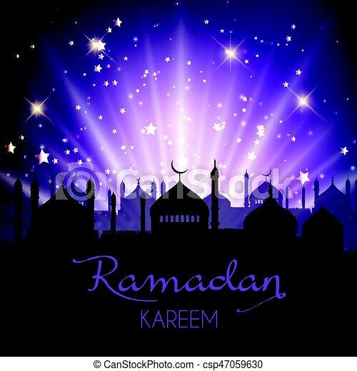 Ramadan Kareem background - csp47059630