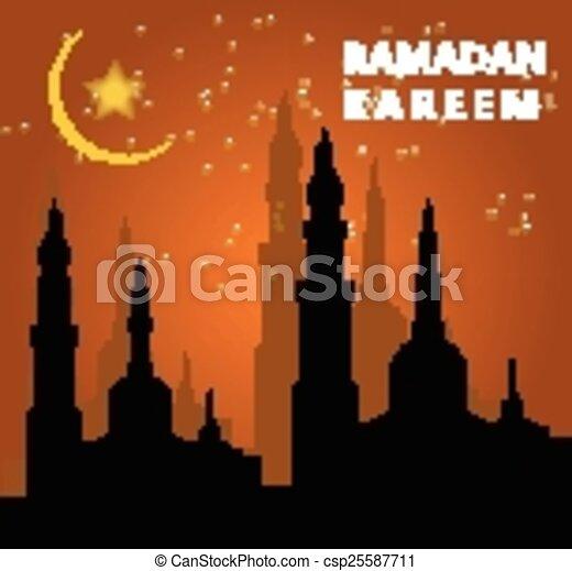 Ramadan kareem background - csp25587711