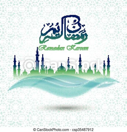 Ramadan kareem background - csp35487912