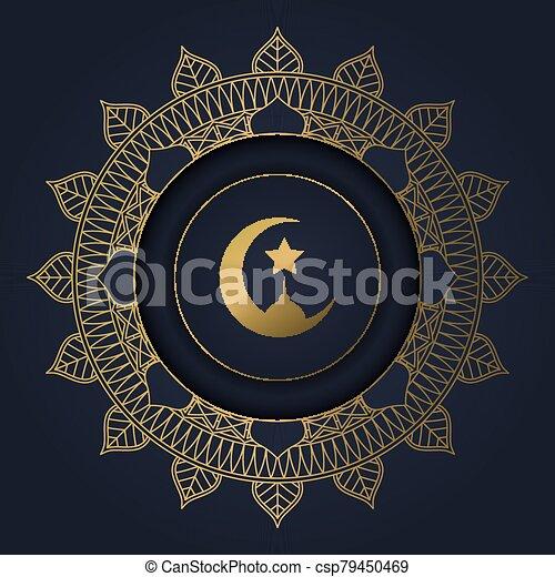 ramadan kareem background with decorative circular frame 1603 - csp79450469