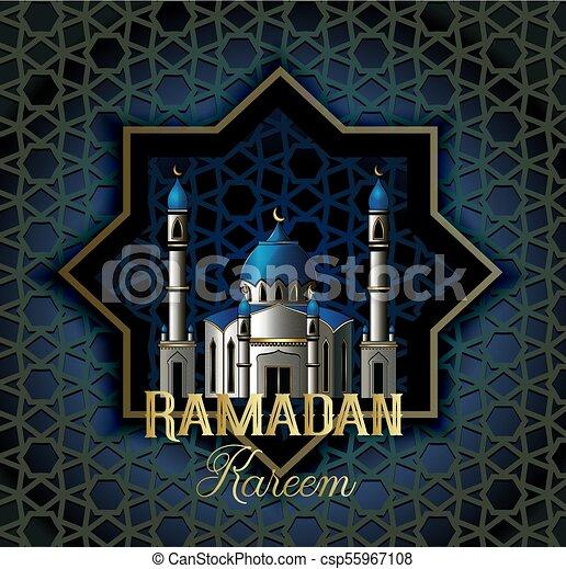 Ramadan kareem beautiful greeting card with islamic vector ramadan kareem beautiful greeting card with islamic calligraphy which means ramadan kareem m4hsunfo