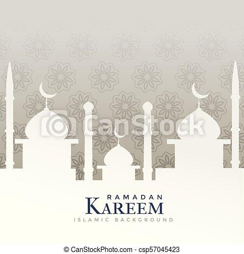 ramadan kareem festival design with mosque silhouette - csp57045423