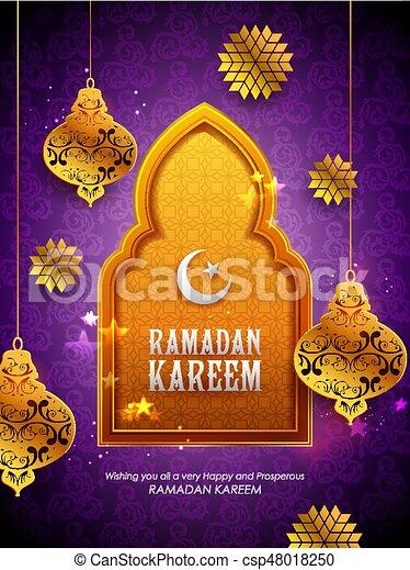 Ramadan kareem generous ramadan greetings for islam religious ramadan kareem generous ramadan greetings for islam religious festival eid with illuminated lamp csp48018250 m4hsunfo