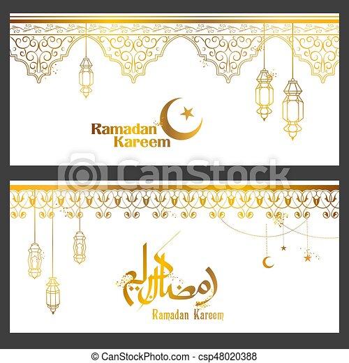 Ramadan kareem generous ramadan greetings for islam religious ramadan kareem generous ramadan greetings for islam religious festival eid with illuminated lamp csp48020388 m4hsunfo