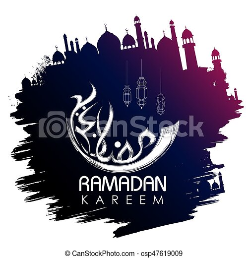 Illustration of ramadan kareem generous ramadan greetings in arabic ramadan kareem generous ramadan greetings in arabic freehand calligraphy csp47619009 m4hsunfo