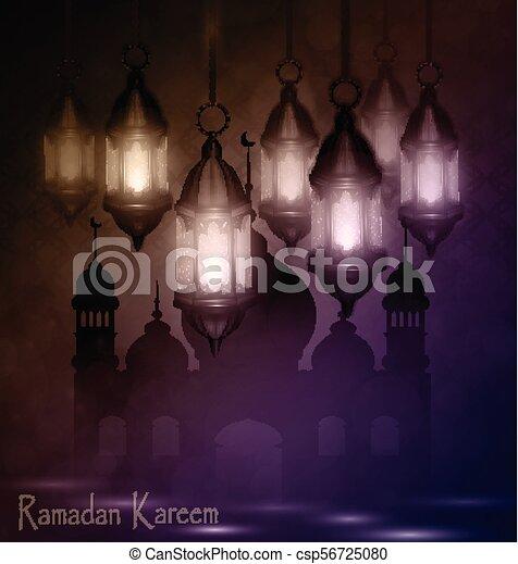 Ramadan Kareem, greeting background - csp56725080