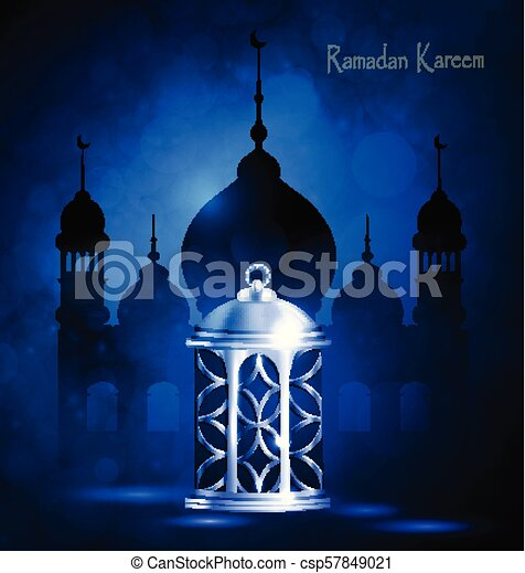 Ramadan Kareem, greeting background - csp57849021
