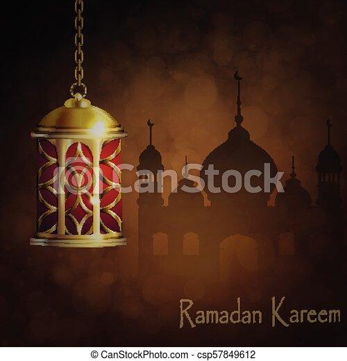 Ramadan Kareem, greeting background - csp57849612