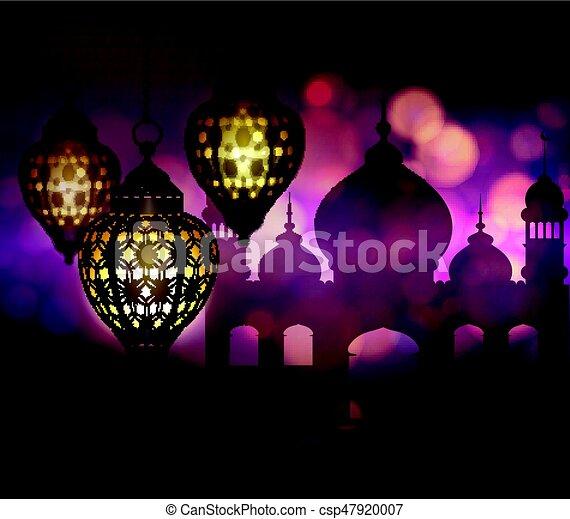 Ramadan Kareem, greeting background - csp47920007