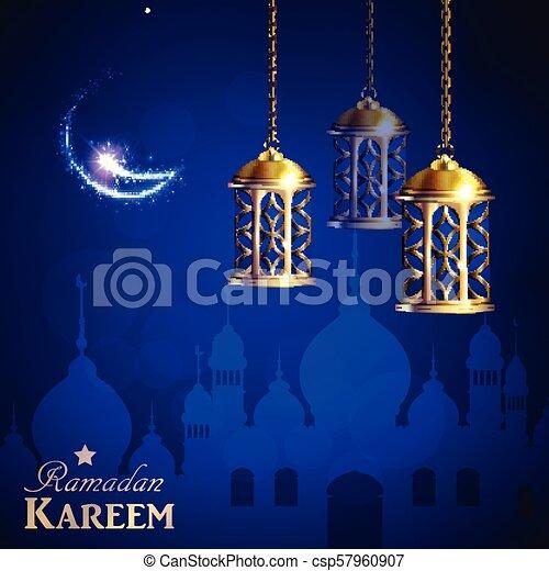Ramadan Kareem, greeting background - csp57960907
