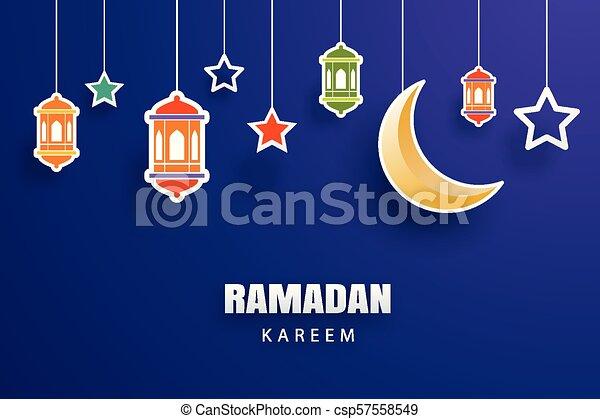 Ramadan kareem greeting card moon and stars traditional eps ramadan kareem greeting card moon and stars traditional lanterns background eid mubarak banner m4hsunfo