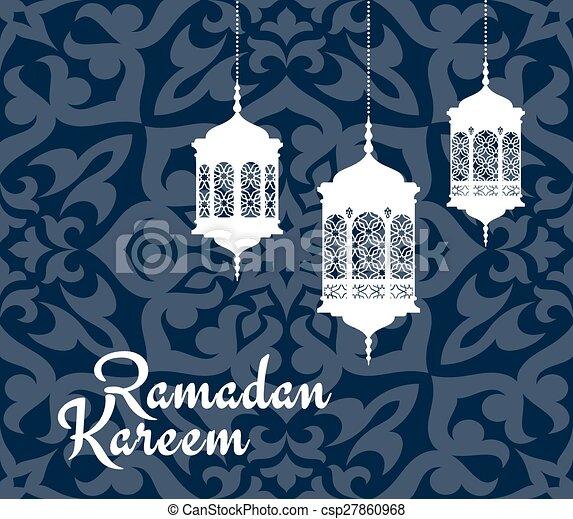Ramadan kareem greeting card with arabic lanterns ramadan kareem ramadan kareem greeting card with arabic lanterns csp27860968 m4hsunfo