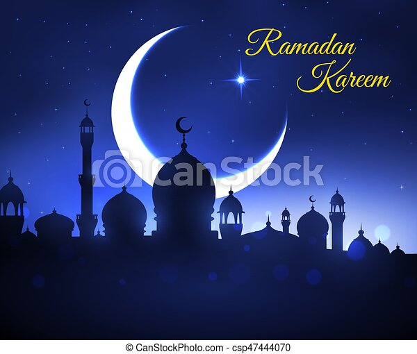 Ramadan kareem greeting card with muslim mosque ramadan kareem ramadan kareem greeting card with muslim mosque csp47444070 m4hsunfo