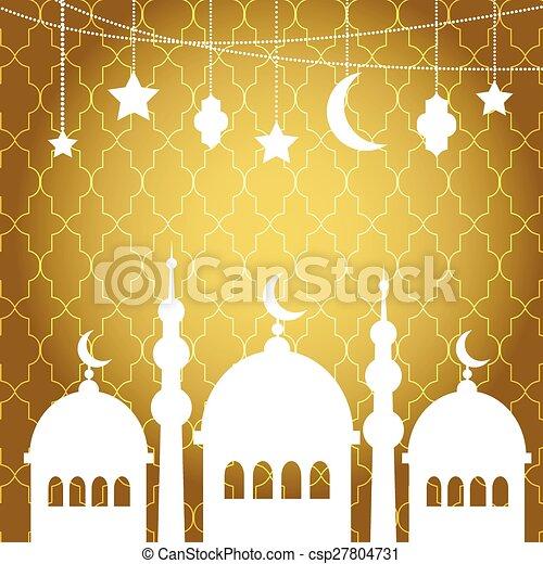 Ramadan Kareem greetings background - csp27804731