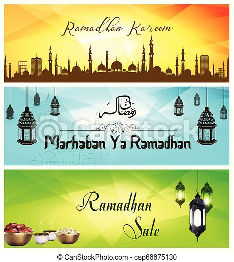 Ramadan Kareem sale banner with Mosque - csp68875130