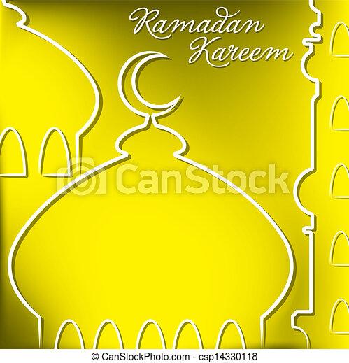 Ramadan Kareem - csp14330118