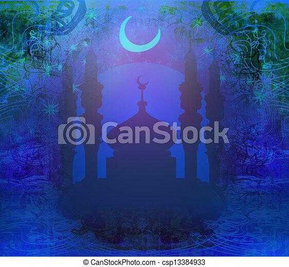 ramadan, karte, kareem - csp13384933